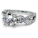Twisted Petal Diamond Engagement Ring in White Gold | Thumbnail 04