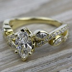 Twisted Petal Diamond Engagement Ring in Yellow Gold | Thumbnail 05