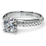 Twisted Rope Comfort Fit Solitaire Engagement Ring in White Gold | Thumbnail 04