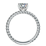 Twisted Rope Diamond Solitaire Bridal Set in White Gold | Thumbnail 02