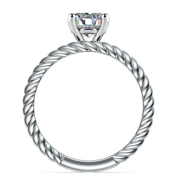 Twisted Rope Diamond Solitaire Bridal Set in White Gold | 02