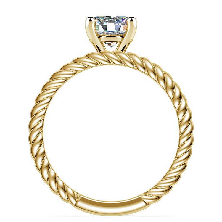 Twisted Rope Diamond Solitaire Bridal Set in Yellow Gold | 02