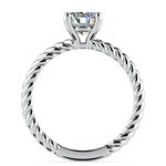 Twisted Rope Solitaire Engagement Ring in Palladium | Thumbnail 02