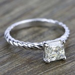 Twisted Rope Solitaire Engagement Ring in Palladium | Thumbnail 05