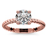 Twisted Rope Solitaire Engagement Ring in Rose Gold | Thumbnail 01