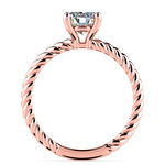 Twisted Rope Solitaire Engagement Ring in Rose Gold | Thumbnail 02