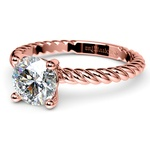 Twisted Rope Solitaire Engagement Ring in Rose Gold | Thumbnail 04