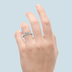 Twisted Rope Solitaire Engagement Ring in White Gold | Thumbnail 06