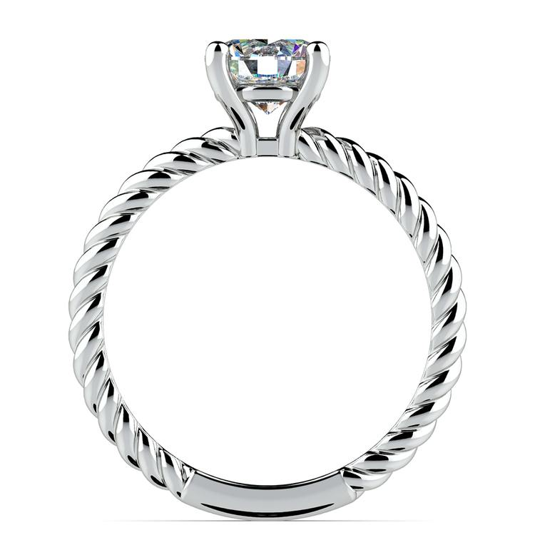 Twisted Rope Solitaire Engagement Ring in White Gold | 02