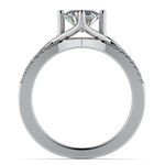 Twisted Split Shank Diamond Engagement Ring in White Gold | Thumbnail 02