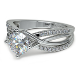 Twisted Split Shank Diamond Engagement Ring in White Gold | Thumbnail 04