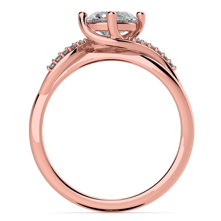 Twisted Vintage Diamond Engagement Ring in Rose Gold | 02