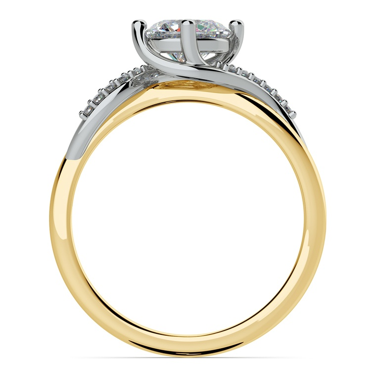 Twisted Vintage Diamond Engagement Ring in Two-Tone Gold | 02
