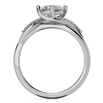 Twisted Vintage Diamond Engagement Ring in White Gold | Thumbnail 02