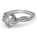 Twisted Vintage Diamond Engagement Ring in White Gold | Thumbnail 04