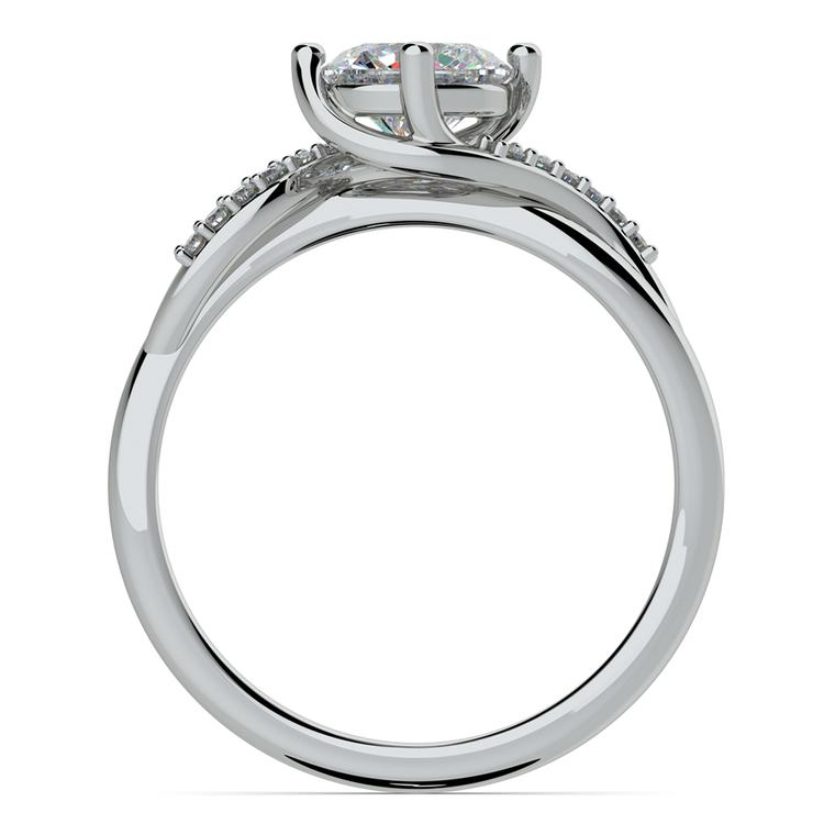 Twisted Vintage Diamond Engagement Ring in White Gold | 02