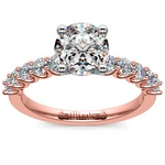 U-Prong Diamond Engagement Ring in Rose Gold | Thumbnail 01