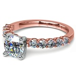 U-Prong Diamond Engagement Ring in Rose Gold | Thumbnail 04