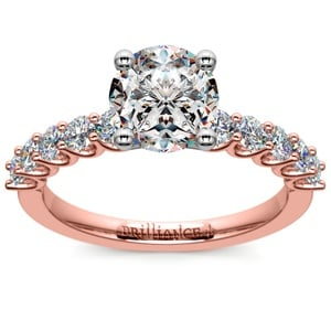U-Prong Diamond Engagement Ring in Rose Gold