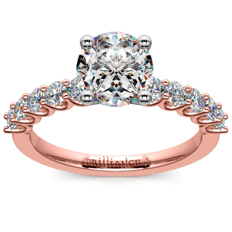 U-Prong Diamond Engagement Ring in Rose Gold | 01