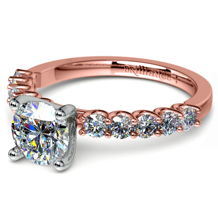 U-Prong Diamond Engagement Ring in Rose Gold | 04