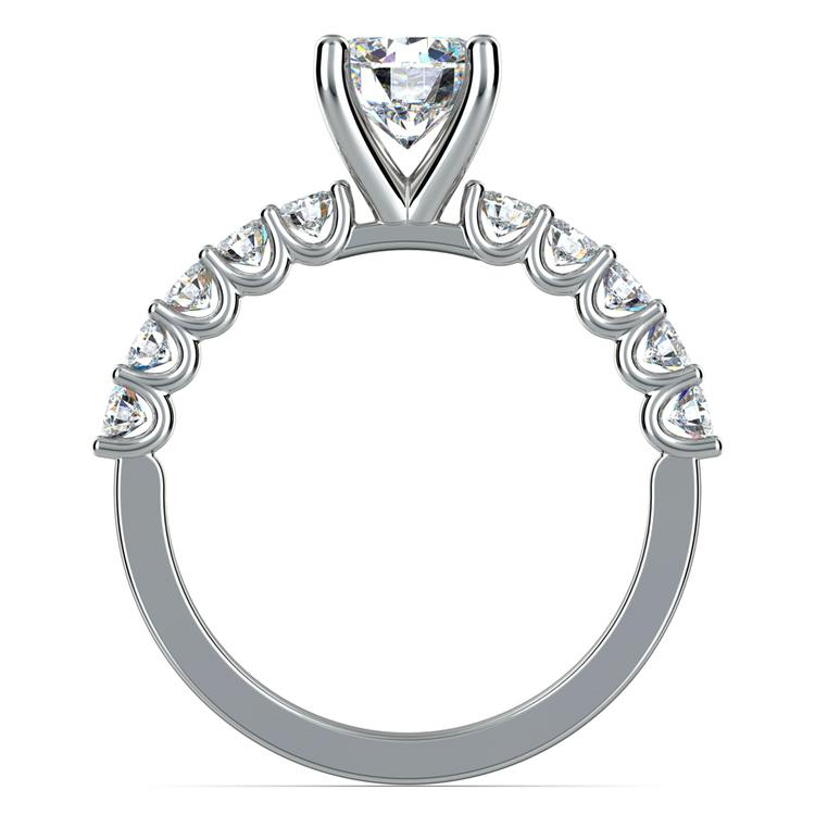 U-Prong Diamond Engagement Ring in White Gold | 02