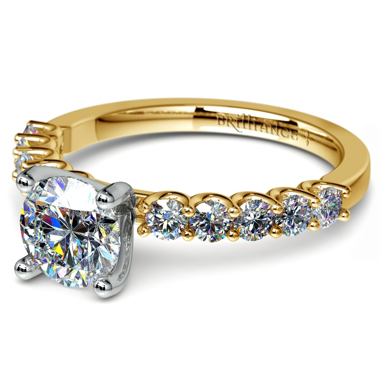 U-Prong Diamond Engagement Ring in Yellow Gold | 04