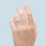 Vine Engagement Ring In Platinum - Diamond Bridal Set   Thumbnail 06