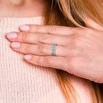 Vine Engagement Ring In Platinum - Diamond Bridal Set   Thumbnail 07