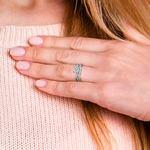 Vine Engagement Ring In White Gold - Diamond Bridal Set | Thumbnail 07