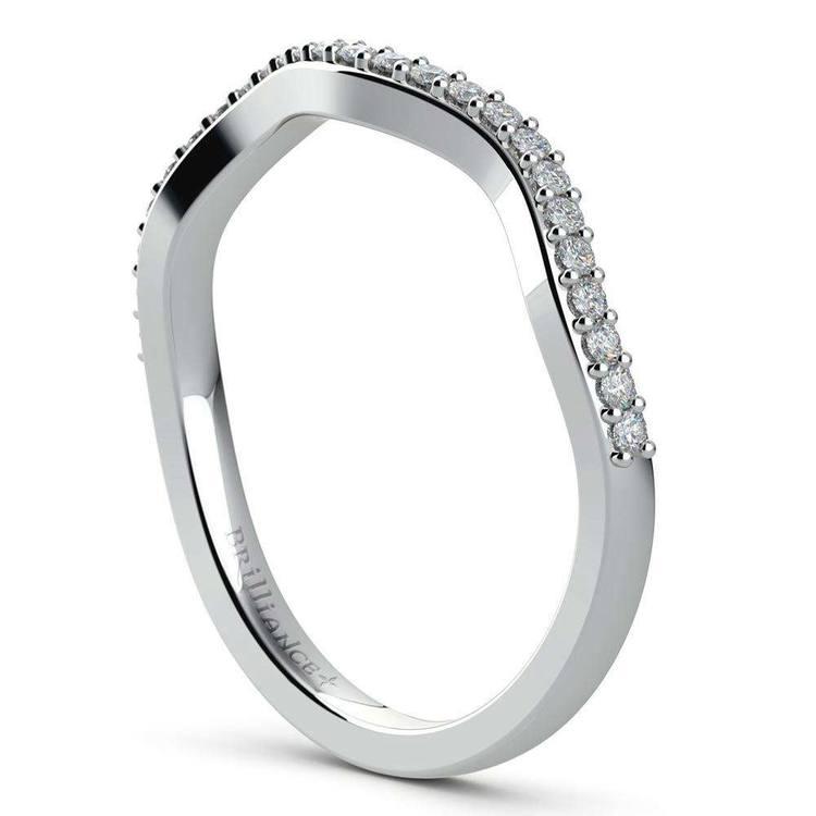 Vine Engagement Ring In White Gold - Diamond Bridal Set | 05