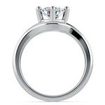 White Gold Swirl Diamond Engagement Ring & Wedding Band Set | Thumbnail 02