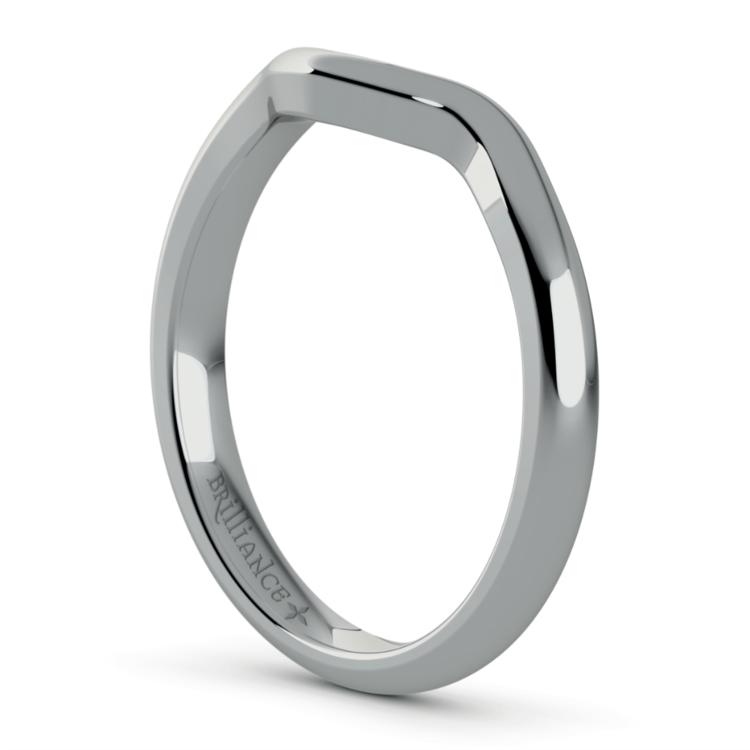 White Gold Swirl Diamond Engagement Ring & Wedding Band Set | 05