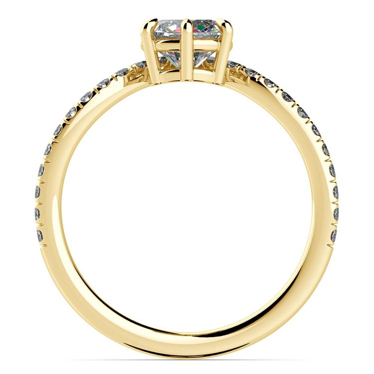Yellow Gold Chevron Diamond Ring | 02