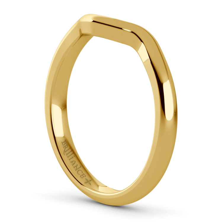 Yellow Gold Swirl Diamond Engagement Ring & Wedding Band Set   05