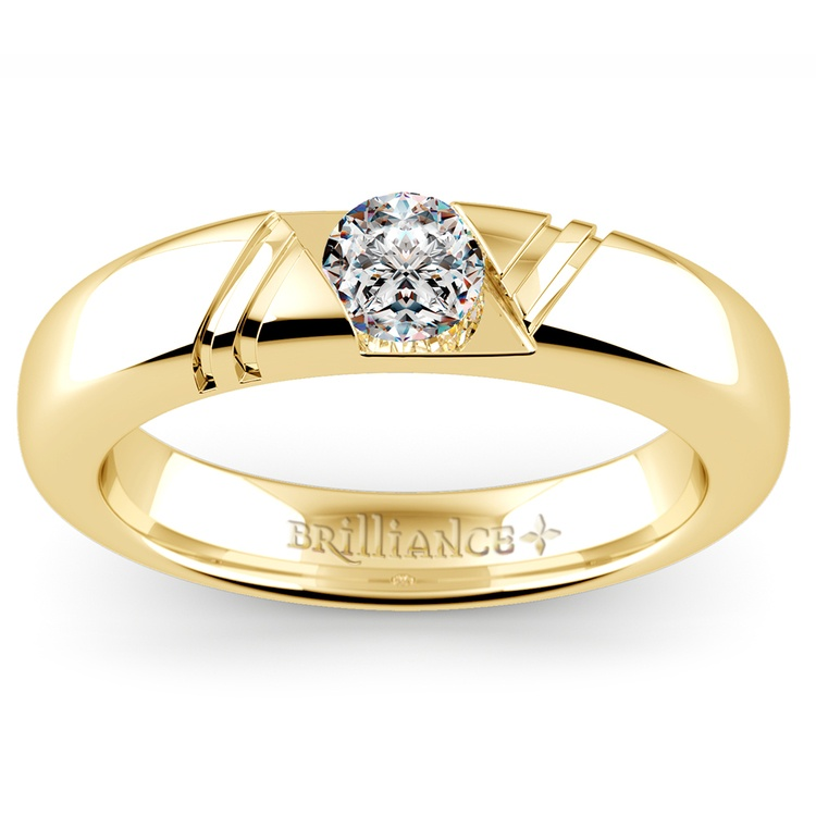 Zephyr Solitaire Mangagement™ Ring in Yellow Gold (1/2 ctw) | 01
