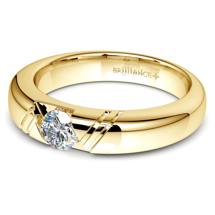 Zephyr Solitaire Mangagement™ Ring in Yellow Gold (1/2 ctw) | 04