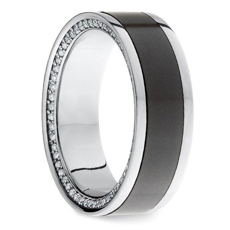 The Zeus - Platinum Elysium Mens Engagement Ring | 02