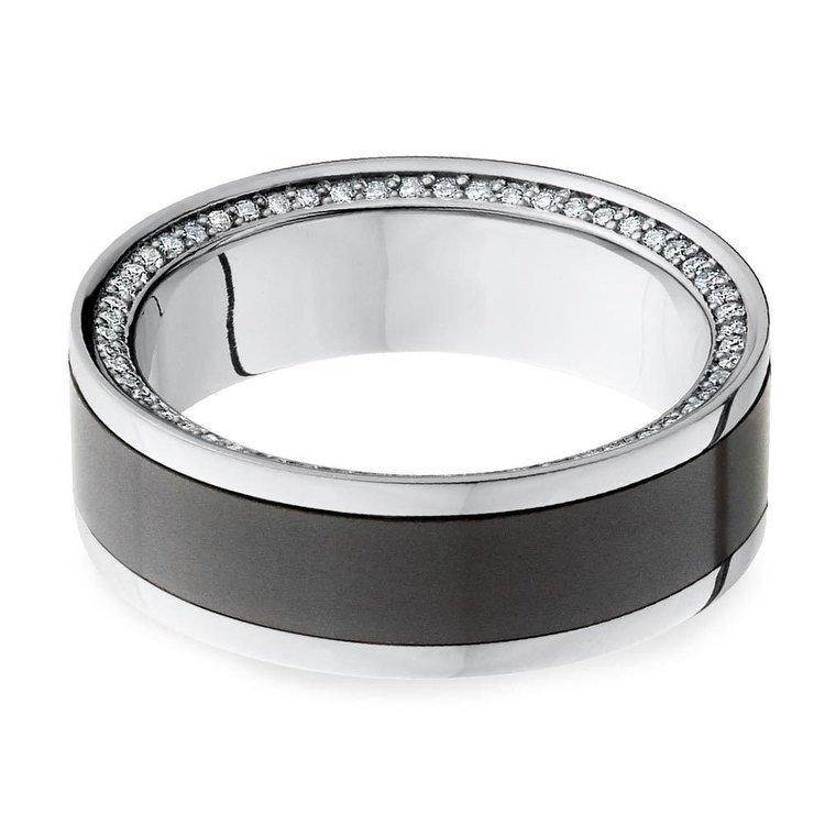 The Zeus - Platinum Elysium Mens Engagement Ring | 01