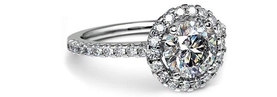 Halo Platinum Preset Engagement Rings