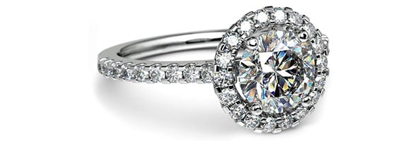 Halo White Gold Preset Engagement Rings