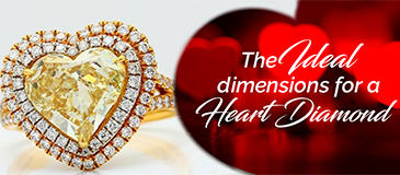 The Ideal Dimensions for a Loose Heart Cut Diamond
