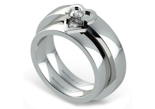 Are Matching Heart Diamond Ring Sets The Most Romantic Wedding Rings?