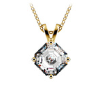 Asscher Diamond Solitaire Pendant in Yellow Gold (1 1/2 ctw)    Thumbnail 01