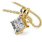 1 1/2 Carat Asscher Cut Diamond Pendant In Yellow Gold | Thumbnail 03