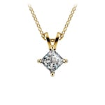 Princess Diamond Solitaire Pendant in Yellow Gold (1/2 ctw)  | Thumbnail 01