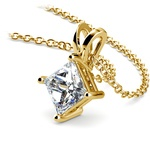 Princess Diamond Solitaire Pendant in Yellow Gold (1 1/2 ctw)  | Thumbnail 03