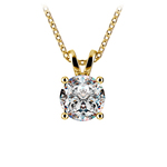 Round Diamond Solitaire Pendant in Yellow Gold (1 1/2 ctw) | Thumbnail 01