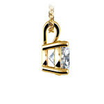 Round Diamond Solitaire Pendant in Yellow Gold (1 1/2 ctw) | Thumbnail 02