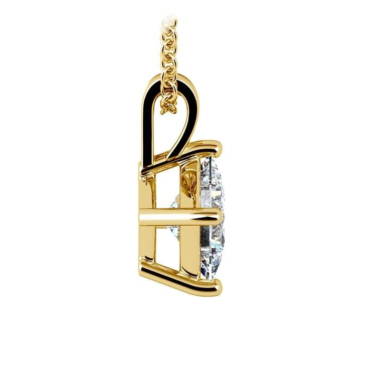 Asscher Diamond Solitaire Pendant in Yellow Gold (1 1/2 ctw)  | 02